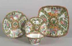 Four Rose Medallion Tableware Items
