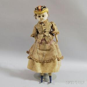 Antique Wax Over Doll