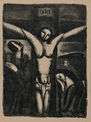 Georges Rouault (French, 1871-1958)      Christ en croix