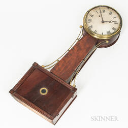 "New England Wood-front Patent Timepiece or ""Banjo"" Clock"