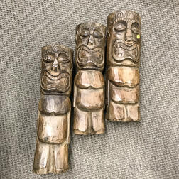 Three Carved Totems