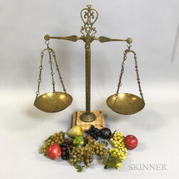 One Brass Balance Scales.     Estimate $200-250