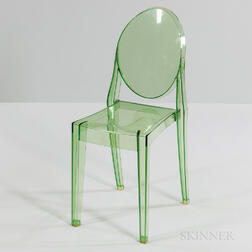 "Philippe Starck for Kartell Green ""Victoria Ghost"" Chair"