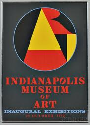 Robert Indiana (American, b. 1928)      Indianapolis Museum of Art Inaugural Exhibitions   Poster