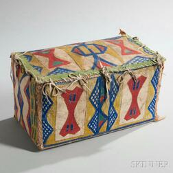 Lakota Polychrome Parfleche Box