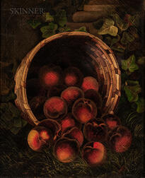 Attributed to William Mason Brown (American, 1828-1898)      Overturned Basket of Peaches