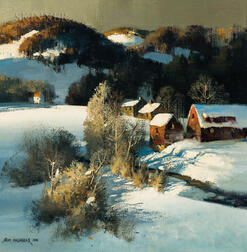 Thomas Andrew Nicholas (American, b. 1934)      Winter Shadows, Vermont