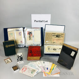 Group of Civic War-era Books and First Day Commemorative Envelopes