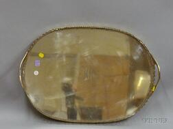 Gorham Silver Plated Tray with Shaped Gallery.