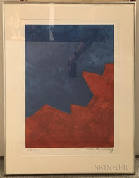 Serge Poliakoff (Russian, 1906-1969)      Composition in Red and Blue