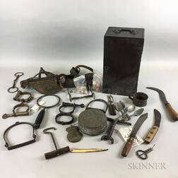 Group of 19th Century Tin, Utensils, and Horse Tack