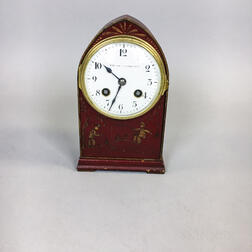 Samuel Marti for Bigelow, Kennard & Co. Japanned Desk Clock