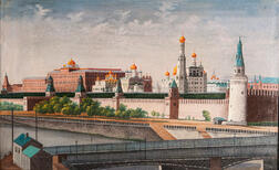 Russian School, 19th Century      A View of the Kremlin