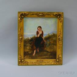 Anglo/American School, 19th Century      Portrait of a Woman Seated