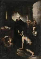 Italian School, 17th Century    St. Augustine Distributing Alms to the Poor