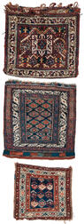Complete Khamseh Bag and Two Northwest Persian Bagfaces