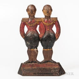 Cast Iron Hubley Footmen Doorstop