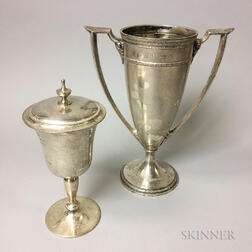 Two Sterling Silver Trophies