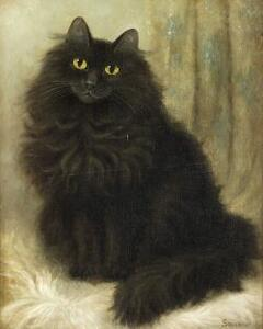 Percy Sanborn (American, 1849-1929)  The Artist's Cat