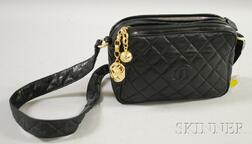 Vintage Chanel Black Quilted Leather Purse