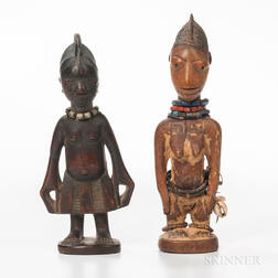 Male and Female Yoruba Ibeji Figures