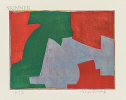 Serge Poliakoff (Russian, 1906-1969)      Composition in Green, Blue, and Red