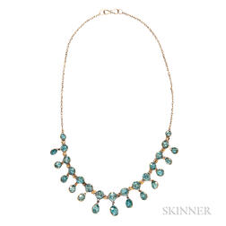 14kt Gold and Zircon Necklace