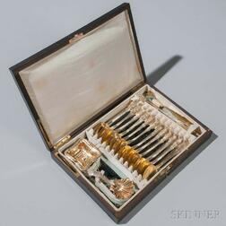 Boxed Set of French .800 Silver Tea Wares
