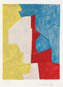 Serge Poliakoff (Russian, 1906-1969)      Composition in Yellow, Red, and Blue