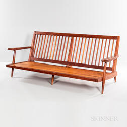 George Nakashima (1905-1990) Cushion Sofa with Arms