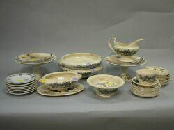 Thirty-two Pieces of English Victorian Transfer Decorated Tableware and New Ocean House China.