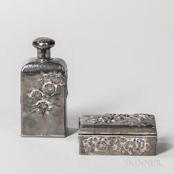 Two Japanese Sterling Silver Items