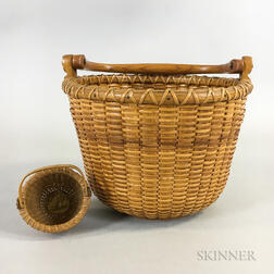 Two C.W. Barber Nantucket-style Woven Baskets