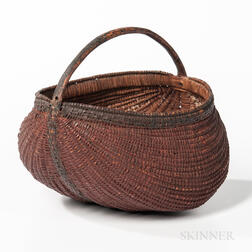Red- and Black-painted Buttock Basket