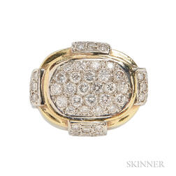 18kt Gold and Diamond Ring