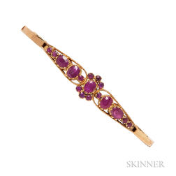 Gold and Ruby Bracelet