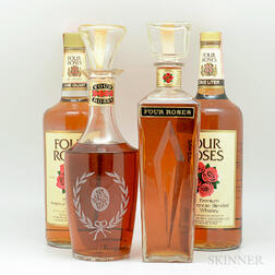 Mixed Four Roses, 3 4/5 quart bottles (oc) 1 liter bottle (oc) 1 quart bottle
