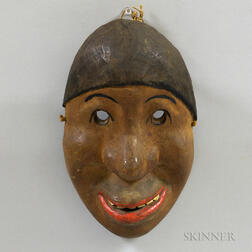 Amazon Indian Carved Wood Mask