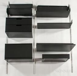 Vitsoe Aluminum and Steel Wall-mounted Desk and Shelving Unit