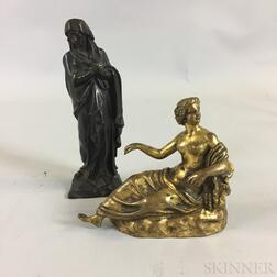 Two Small Cast Bronze Figures