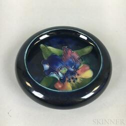 Small Modern Moorcroft Pottery Orchid Shallow Bowl