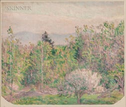 Lilla Cabot Perry (American, 1848-1933)      Early Spring from My Window in Hancock New Hampshire
