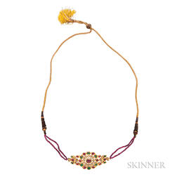 Gold Gem-set Necklace