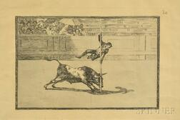 "Two Framed Goya Print Facsimiles: Tauromachia   and ""Bull Fight."""