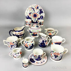Fifteen Pieces of English Ceramic Tableware