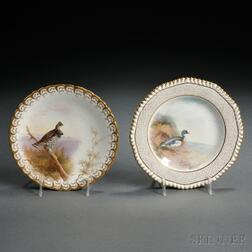 Eleven Hand-painted Bone China Bird Plates