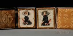 James Sanford Ellsworth (American, 1802/03-1874)      Pair of Portrait Miniatures of Samuel A. Gager and Wealthy Ann Huntington Gager