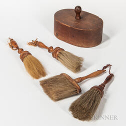 Four Shaker Brushes and an Oval Pantry Box Form