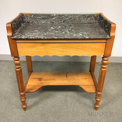 Federal Cherry Marble-top Mixing Table