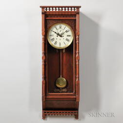 Waterbury Regulator No. 4 Walnut Wall Clock